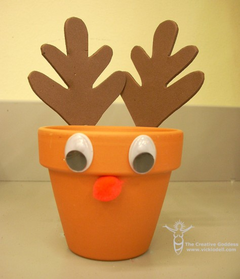 Clay Pot Crafts - Reindeer Treat Holder
