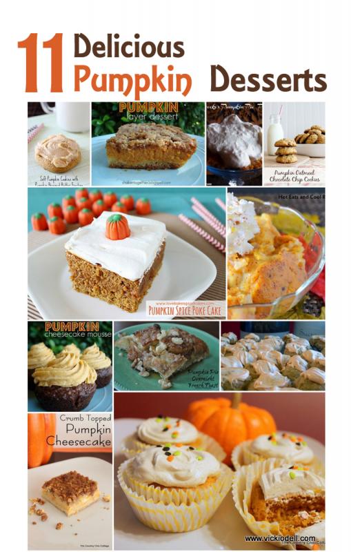 11 Delicious Pumpkin Dessert Recipes