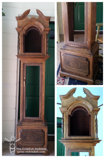 Thrift store find - grandfather clock to DIY