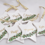 personalized ornament party favors