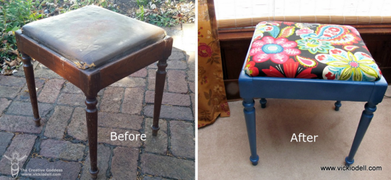 Piano Stool Makeover