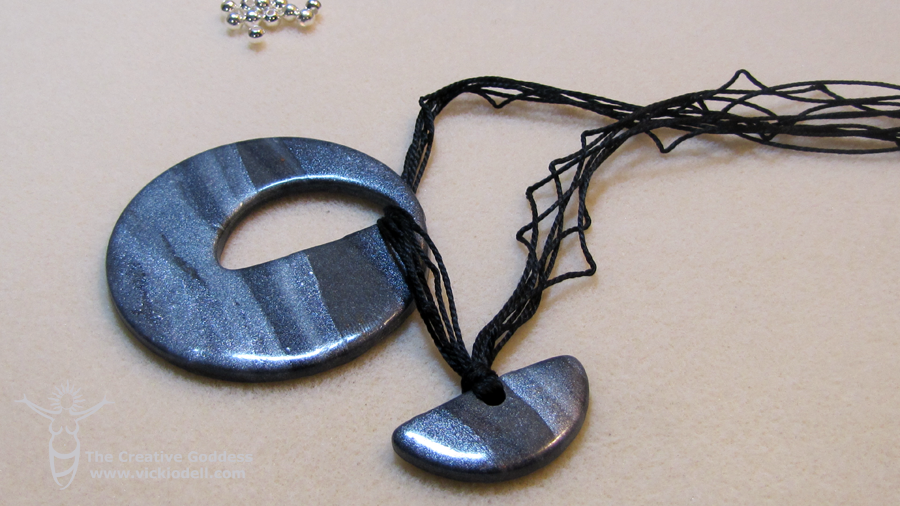 Six Strand Polymer Clay Necklace