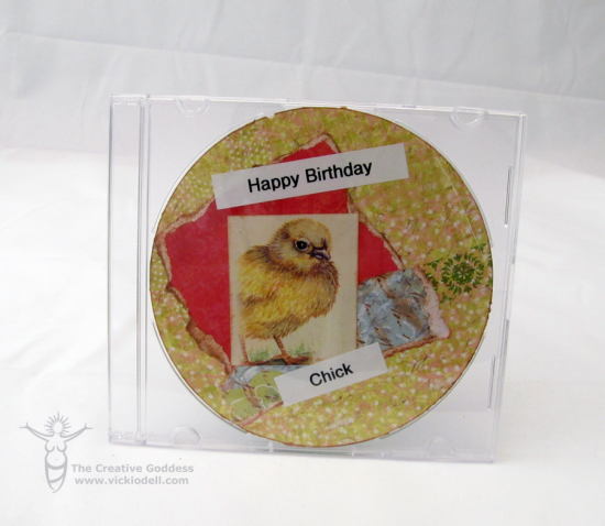 Recycled CD Birthday Card