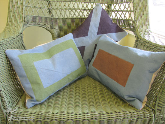 Maritime Signal Flag Inspired Toss Pillows
