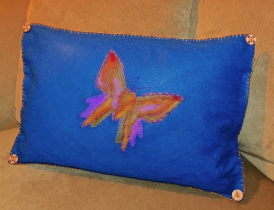 Needle Felting Tutorial – Make a Butterfly Pillow