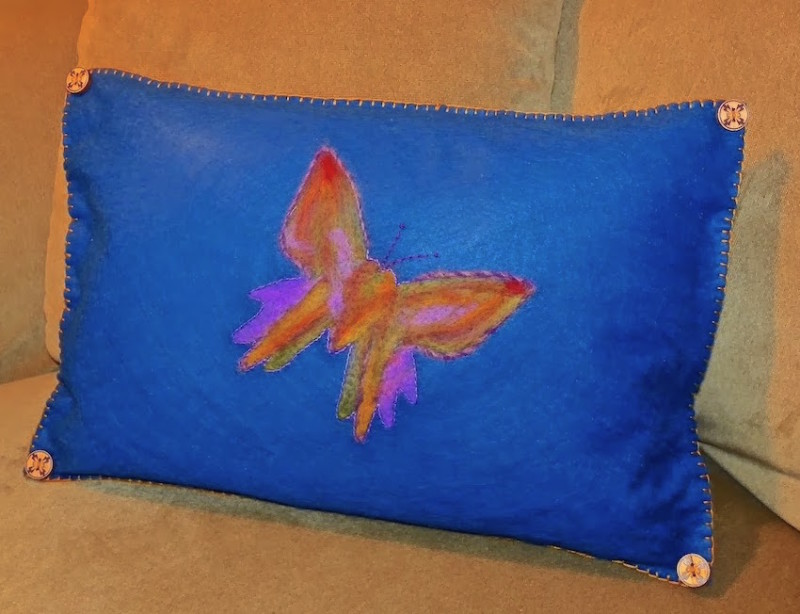 Needlefelted pillow lisa fulmer