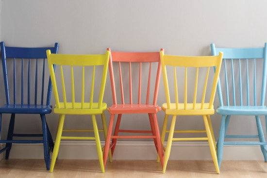 Chair Makeover with Krylon Spray Paint