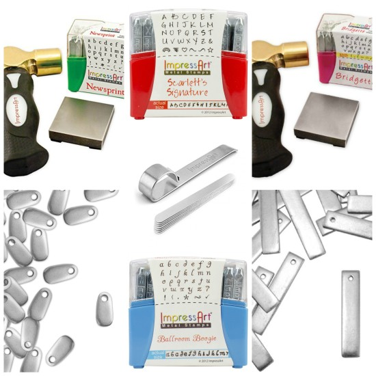 Holiday Gift Guide for the Crafter - ImpressArt Letter and - Numbers Sets and Blanks