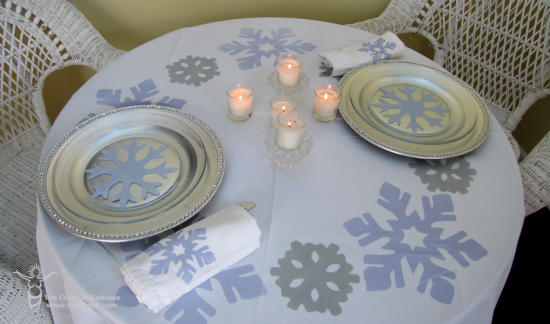 Winter Wonderland Table Setting & Winter Wonderland Table Setting - Romantic Dinner for Two u2022 Vicki Ou0027Dell