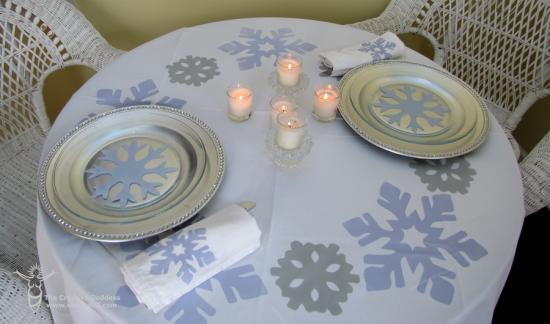 Winter Wonderland Table Setting – Romantic Dinner for Two