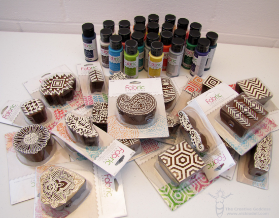 Fabric CreationsTM Block Printing Stamps And Soft Inks