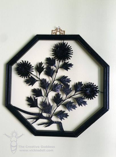 Wood and Metal Wall Art Makeover