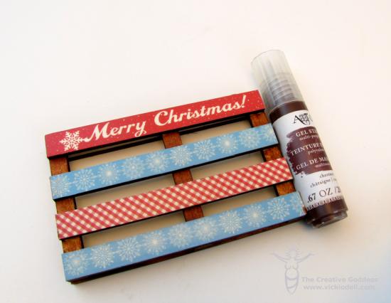 Mixed Media Mini Pallet Gift Tag
