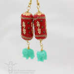 Chinese New Year Inspired Earrings with Jesse James Beads
