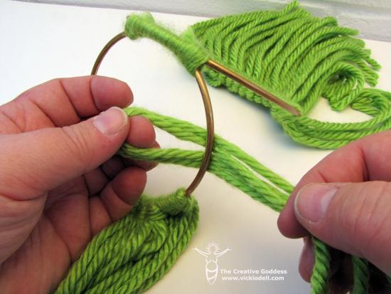 Chunky Yarn and Brass Ring