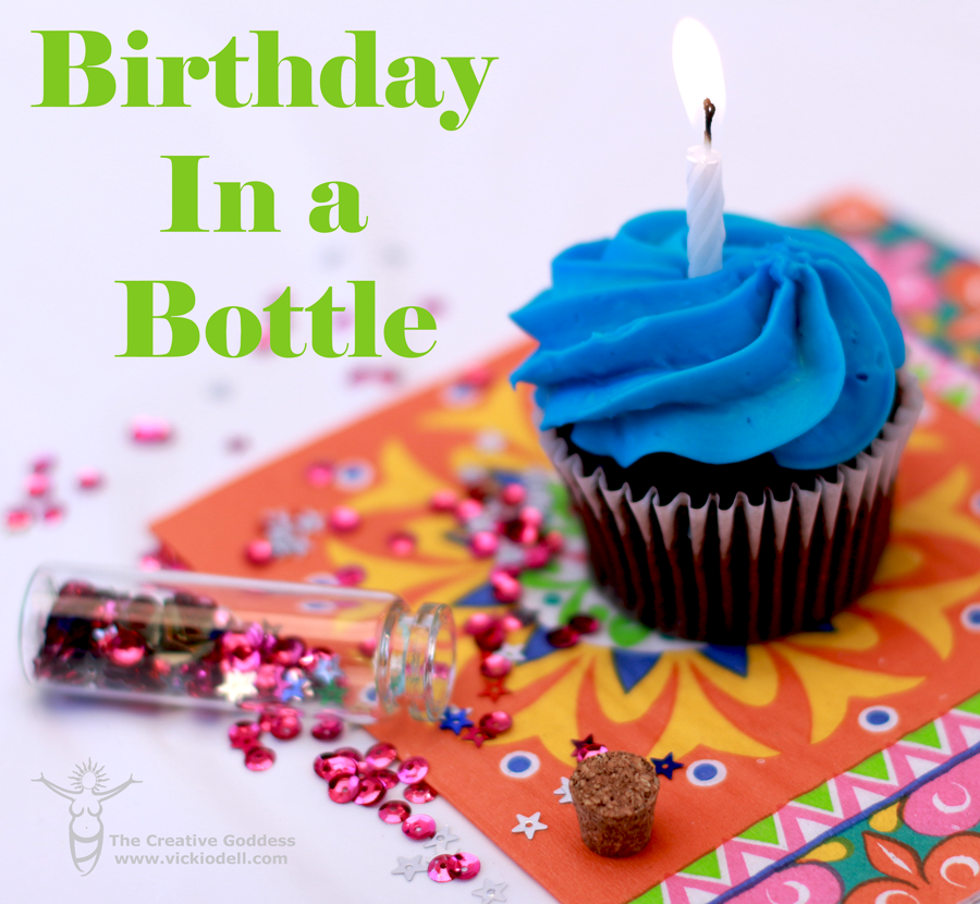 Cupcake- Birthday Party in a Bottle