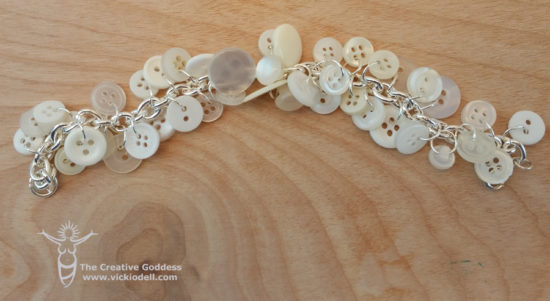 White Button Bracelet