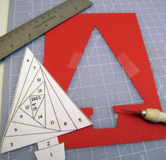 Iris Paper Folding - Christmas Tree