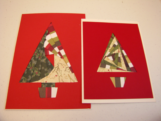 Christmas card made with iris paper folding