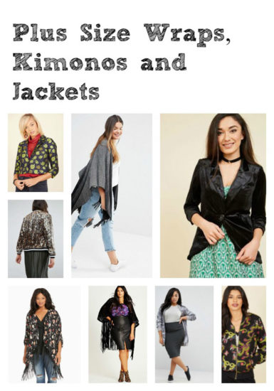 Plus Size Wraps, Kimonos and Jackets