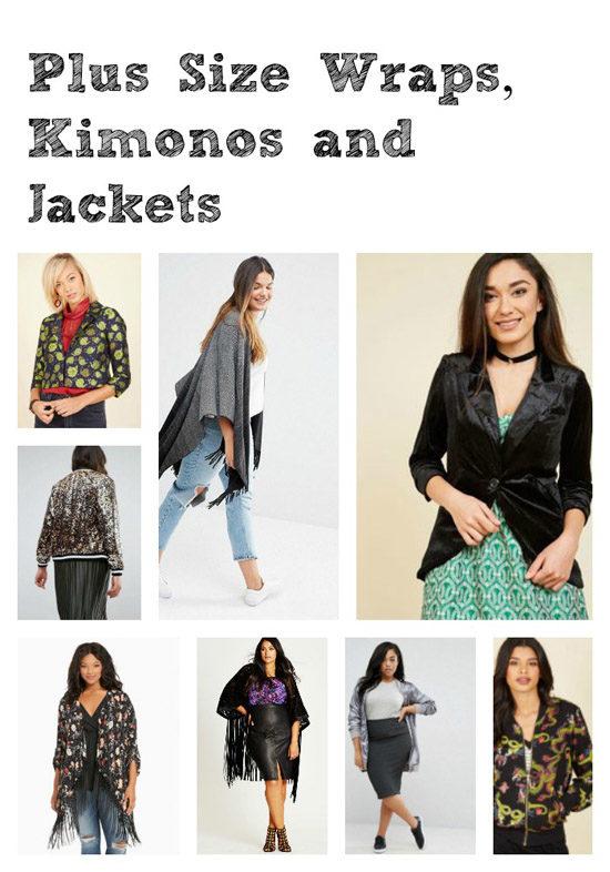 Plus Size Wraps, Kimonos and Jackets
