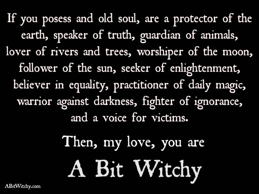 Are you a bit witchy?