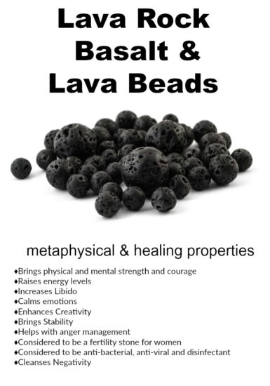Lava Rock, Basalt, and Lava Beads