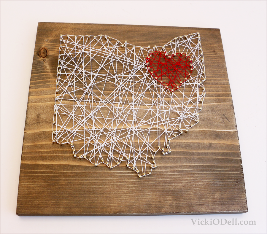 I ♥ Ohio String Art