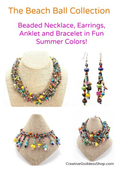 Beach Ball Jewelry Collecton for CreativeGoddessShop.com