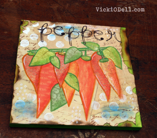 Garden Inspired Mixed Media - Pepper