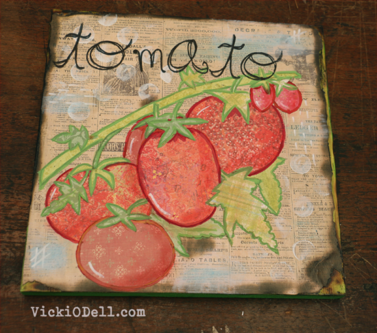Garden Inspired Mixed Media - Tomato