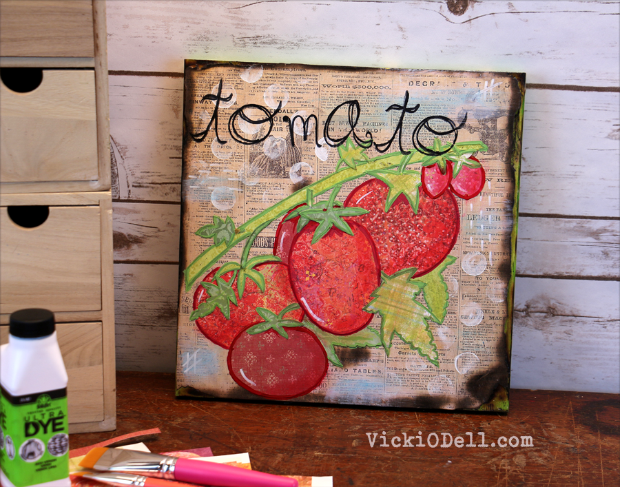 Garden Inspired Mixed Media - Tomato