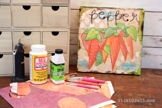 Garden Inspired Mixed Media Art – Pepper