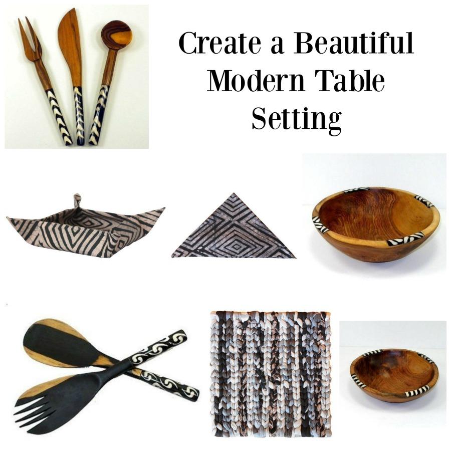 Create a Beautiful Modern Table Setting