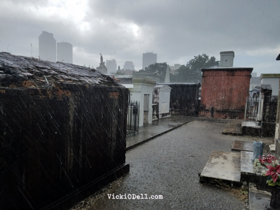 Rain in Cemetery No 1 NOLA