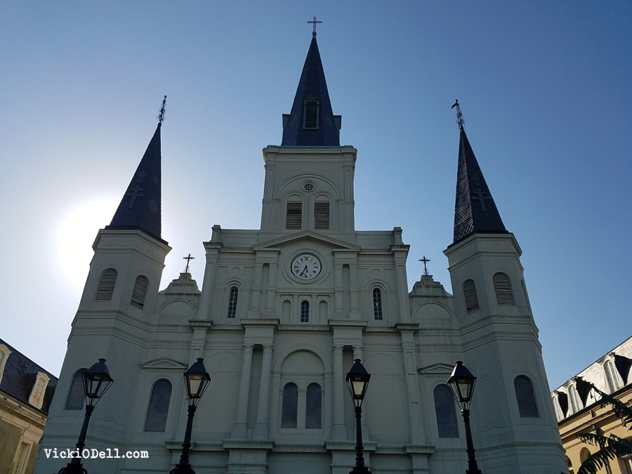 St. Louis Cathedral from Jackson Square, New Orleans LA