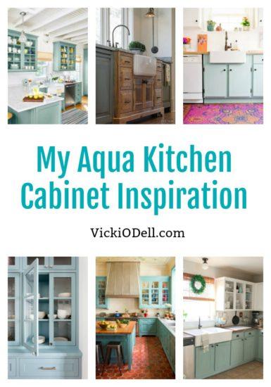 Aqua Kitchen Cabinet Inspiration