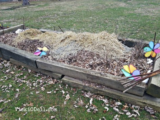 Raised garden beds for gardening in place