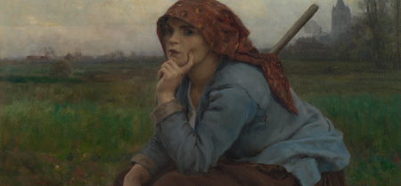 Young Peasant Girl with a Hoe Jules Breton, 1882